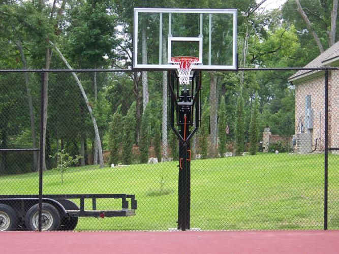 Quality court industries project gallery for Residential basketball court dimensions